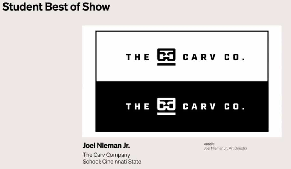 Gold ADDY award 2021 - Joel Nieman