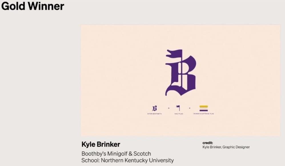 Gold ADDY award 2021 - Kyle Brinker