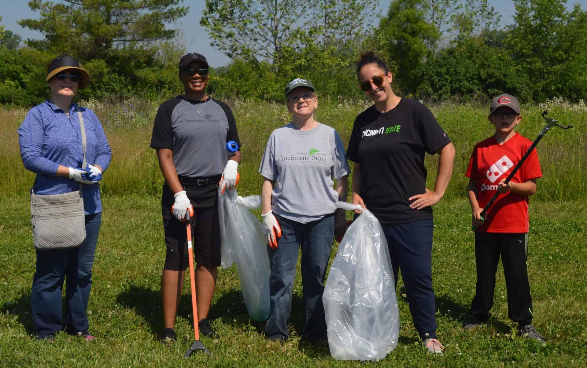 Volunteers at Campbell Lake Preserve